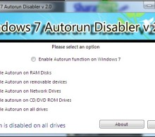 Windows 7 Autorun Disabler