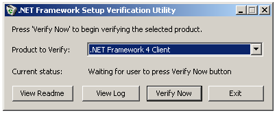 .NET Framework Setup Verification Tool