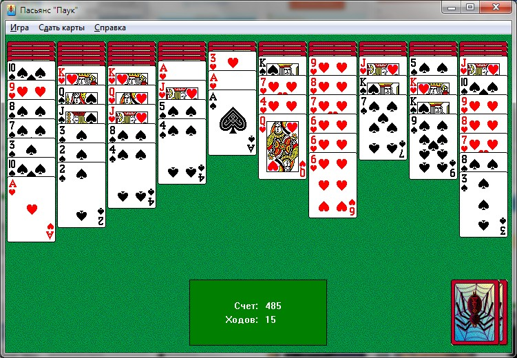 Карты пасьянс паук играть играть онлайн бесплатно в 101 карты онлайн